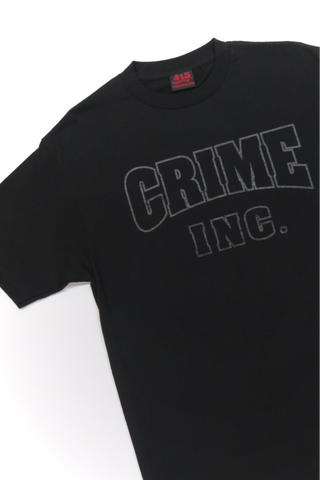 Crime Inc. Black on Black Men's Short Sleeve
