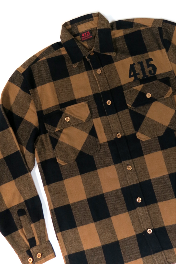415 Embroidered Men's Flannel