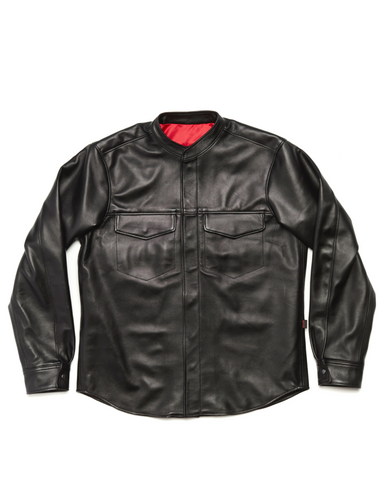 Long Sleeve Lambskin Shirt