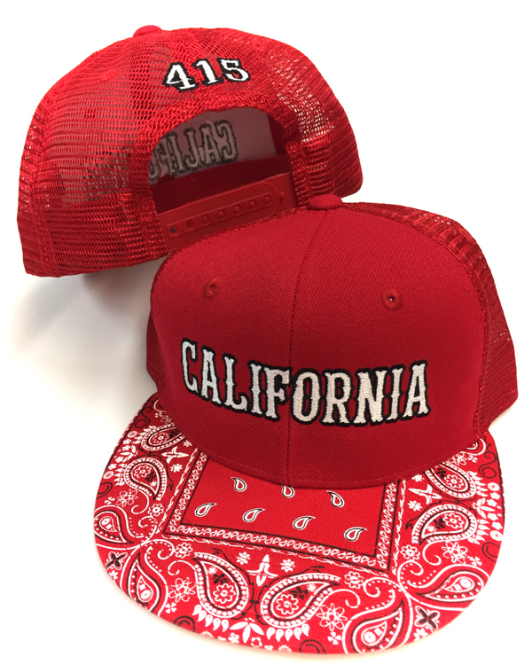 California Bandana Trucker Hat