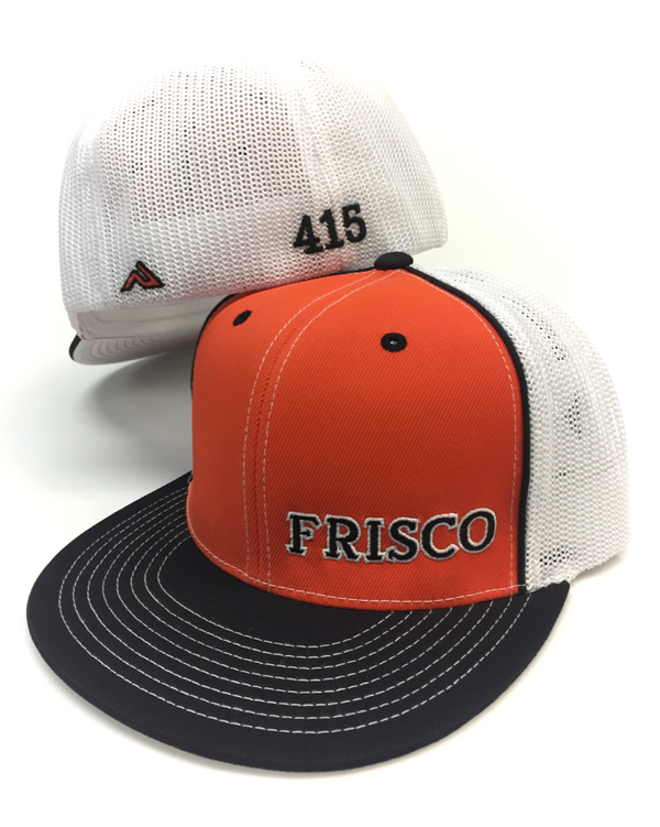Frisco Side Stitch Trucker Flat Bill