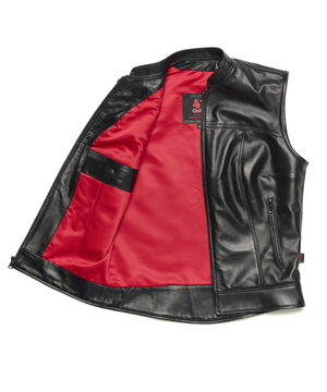 415 Leather Ladies Lambskin Zipper Vest