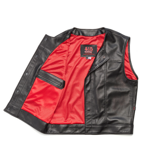 415 Leather Ultra-lightweight  Perforated Lambskin Snap Vest