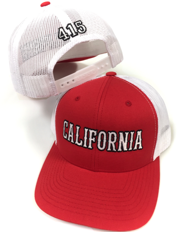California Trucker Curved Bill Snapback