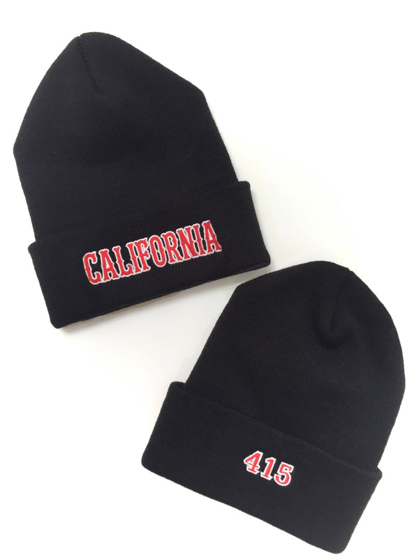 California 415 Cuffed Knit Beanie Cap
