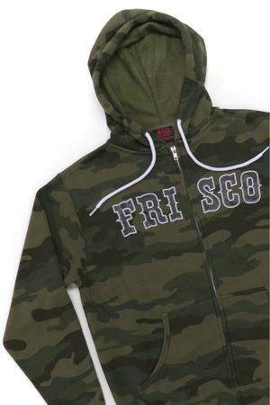 Frisco 415 Army Camo Hooded Zipper Sweatshirt