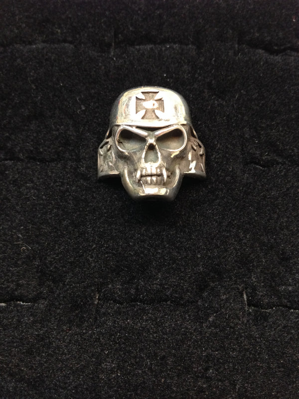 Iron Cross Skull Ring