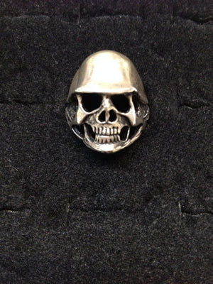 Skull Ring with Helmet