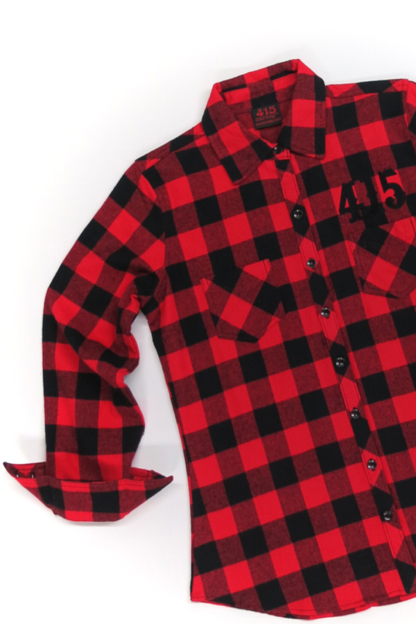 415 Embroidered Ladies Flannel