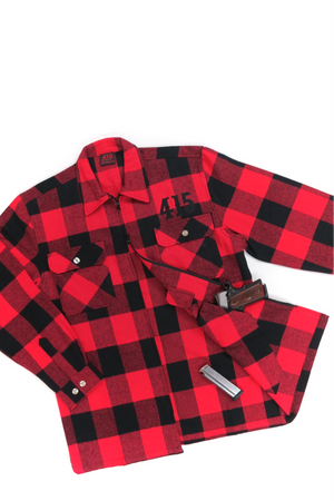 415 Embroidered Concealed Carry Men's Flannel