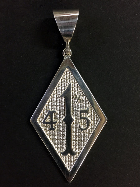 415 1% Sterling Silver Pendant