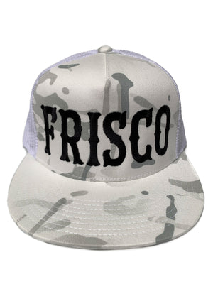 Frisco Snow Camo Trucker Hat