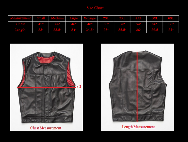 415 Leather Perforated Lambskin Snap Vest