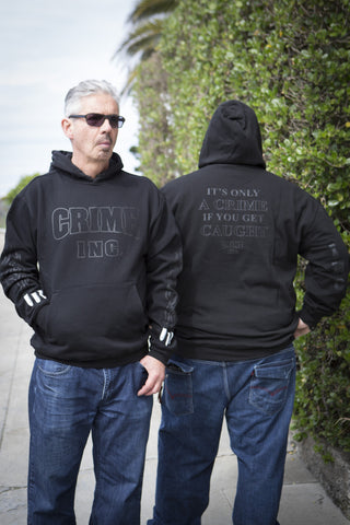 Crime Inc. Black on Black Hoodie