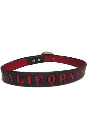 California Stamped Leather Belt