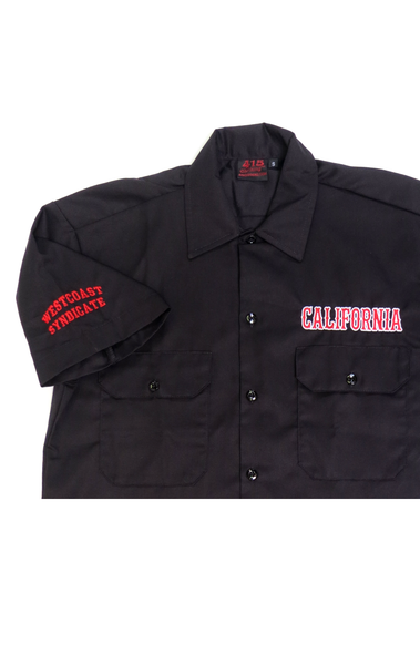 California Embroidered Work Shirt