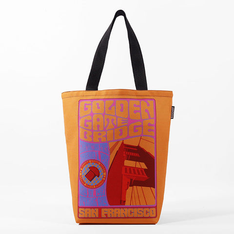 Groovy Golden Gate Bridge Tote Bag