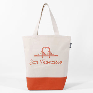 SF Bridge Heart Tote Bag