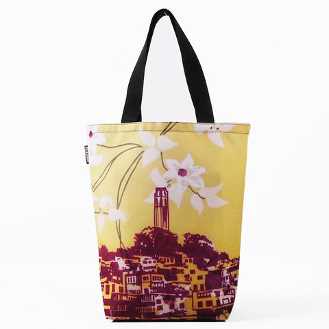 Coit Tower Flower Tote Bag