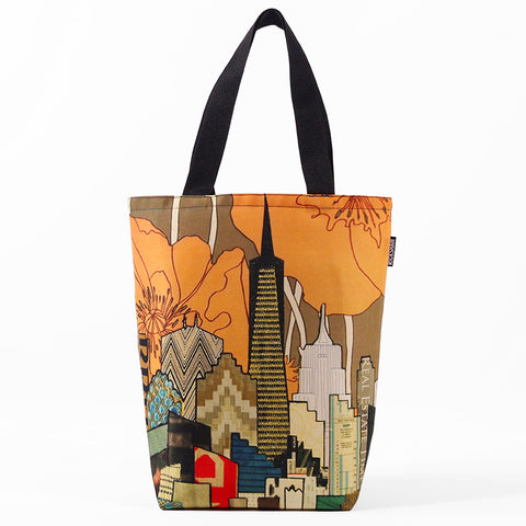 SF Skyline Poppy Tote Bag