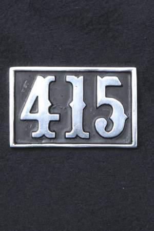 Large 415 Sterling Silver Pin