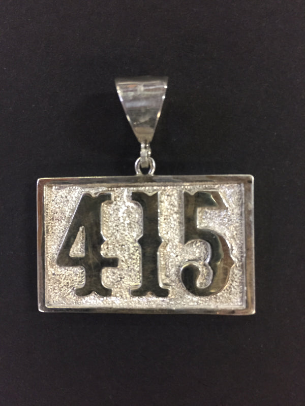 Large 415 Silver Pendant