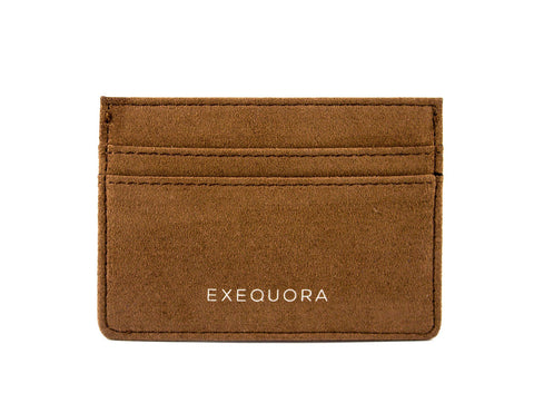 Marrone Brown Alcantara Cardholder