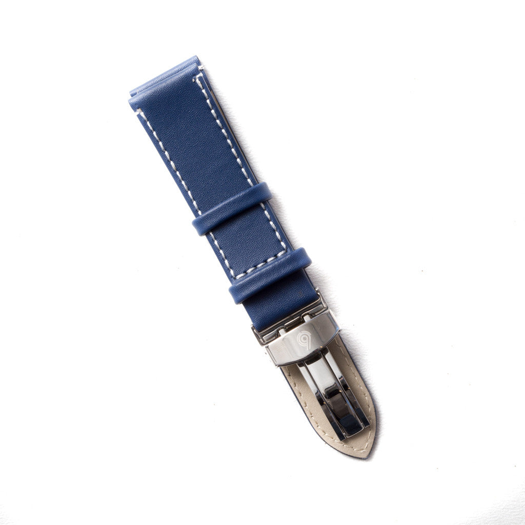 Royal Blue Leather Strap