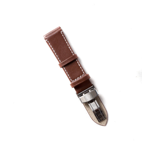 Rich Brown Leather Strap