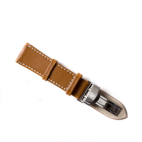 Caramel Tan Leather Strap