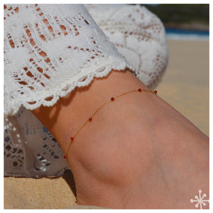 STONE ANKLETS