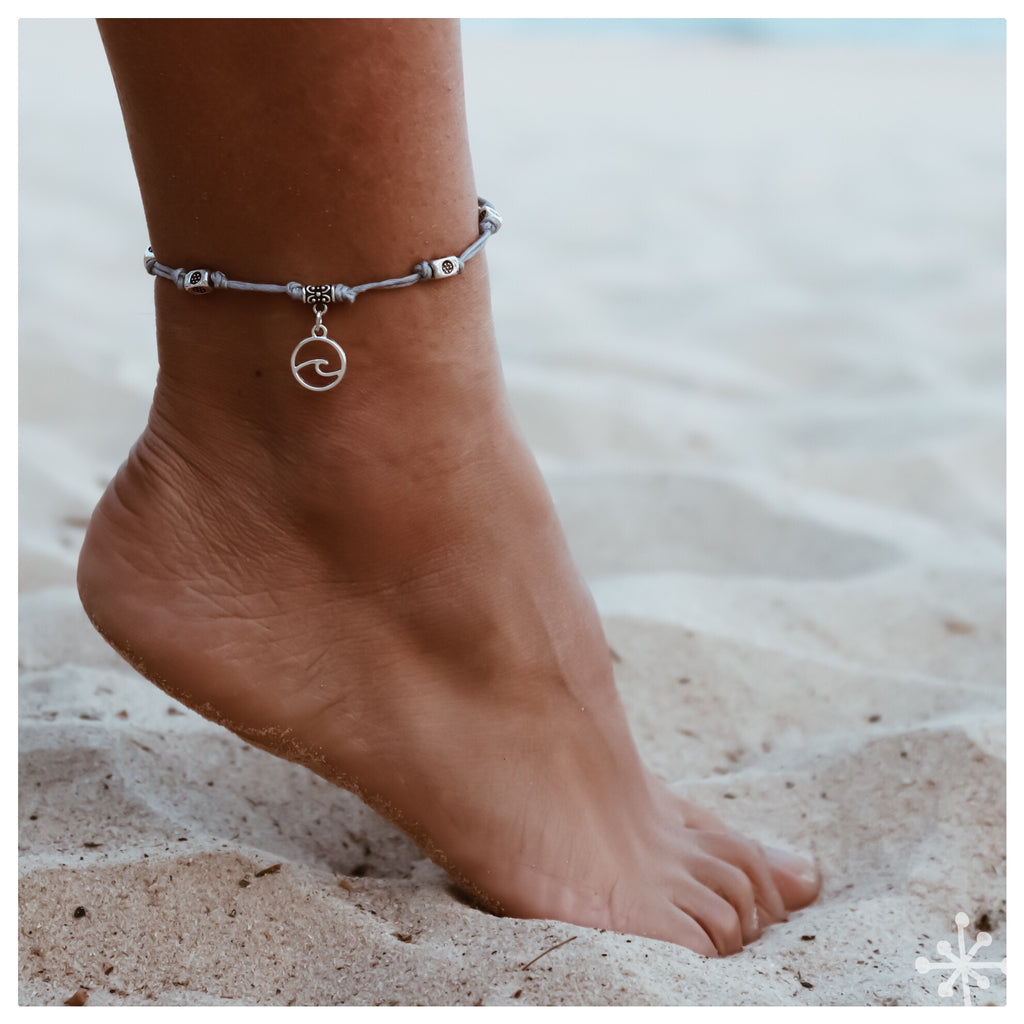 Wave Gray Anklet