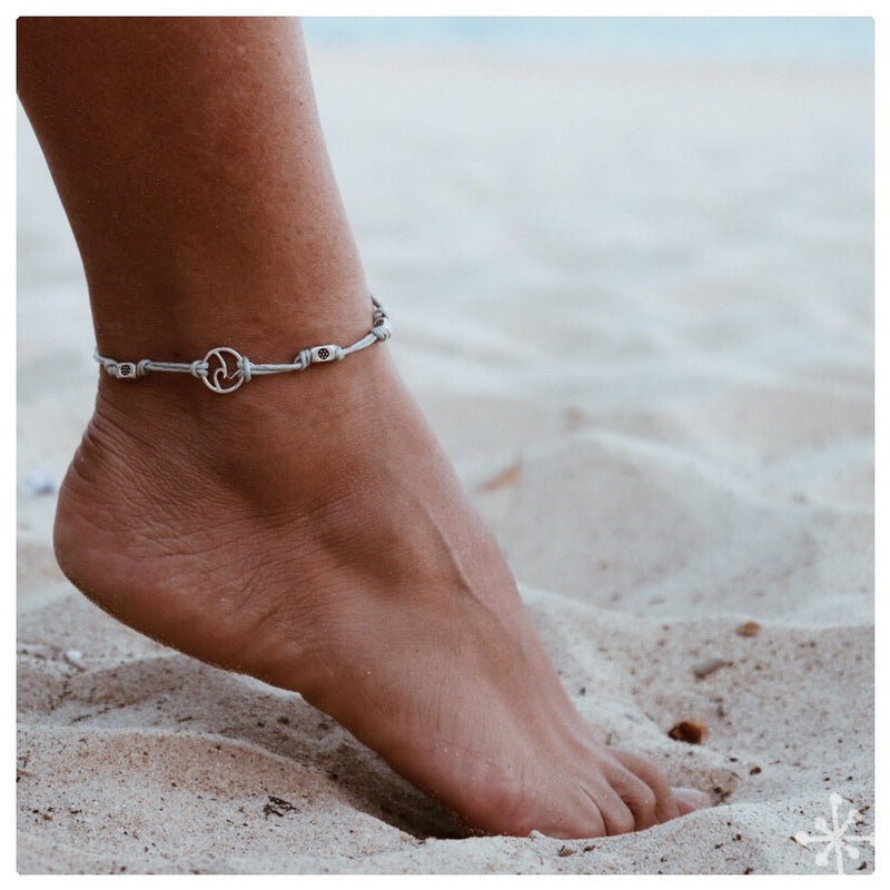 Wave Grey Anklet