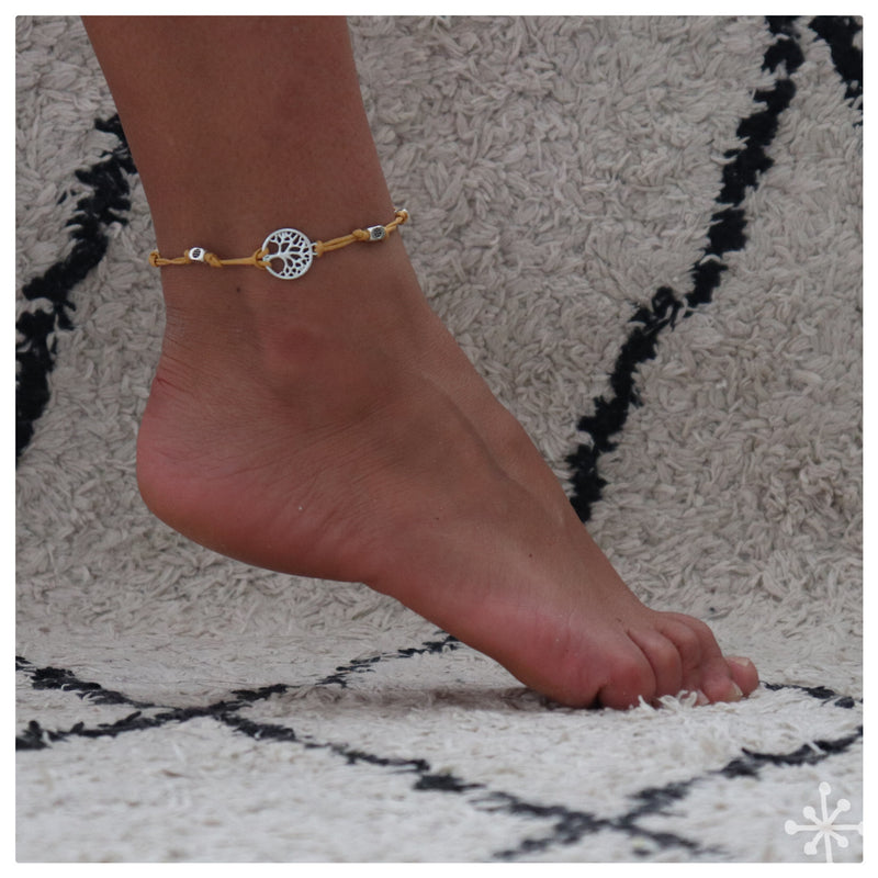 Tree of life Yellow anklet