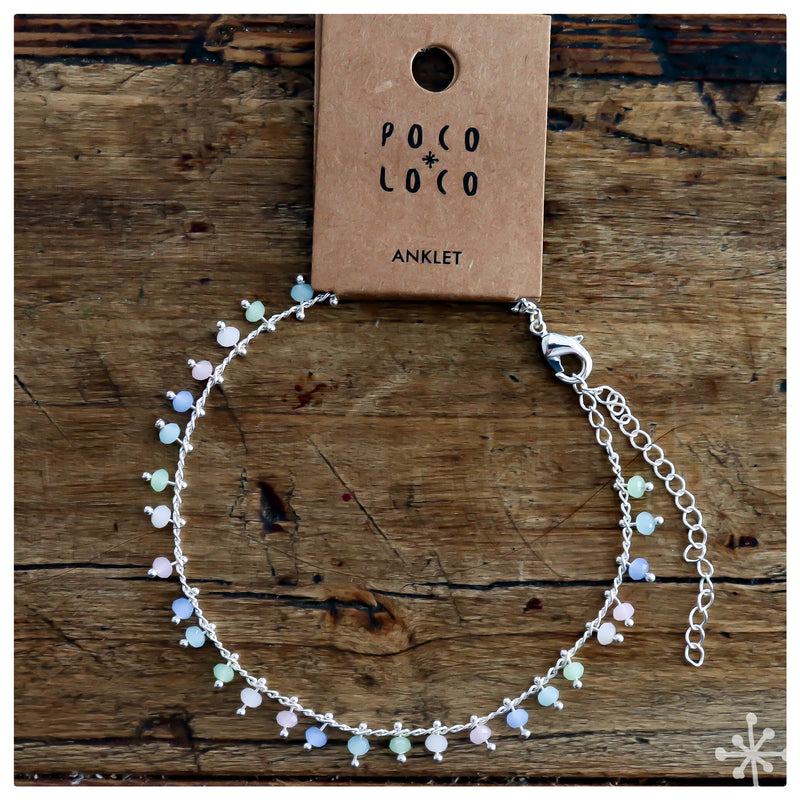 Chain Anklet Silver - Multicolour