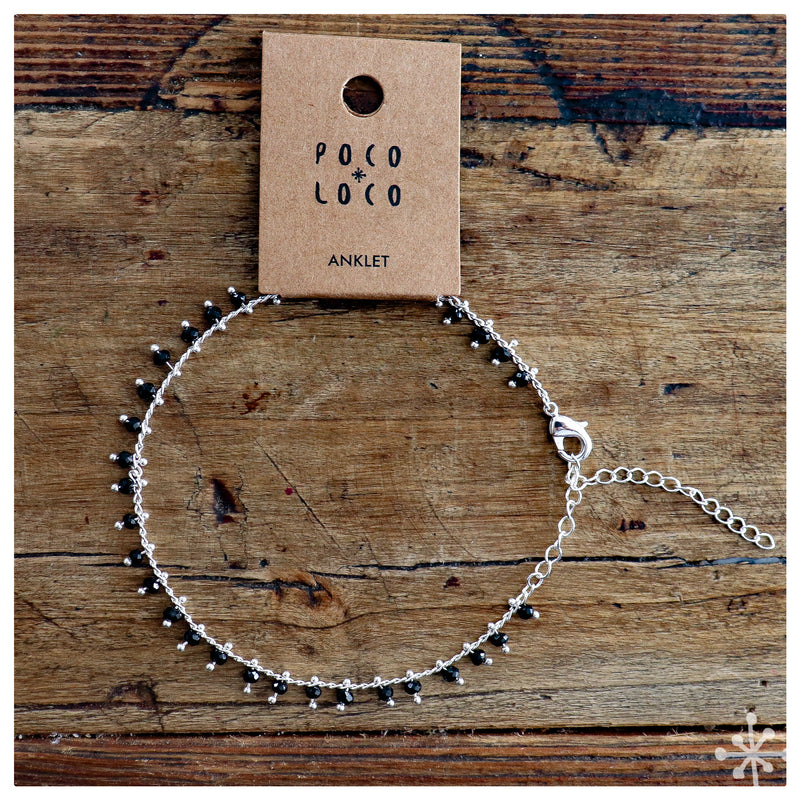 Chain Anklet Silver - Black