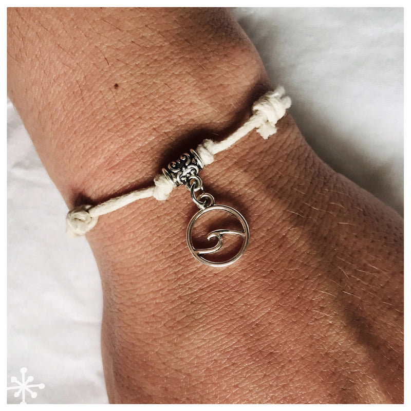 Bracelet Sliding Knots Wave Cream