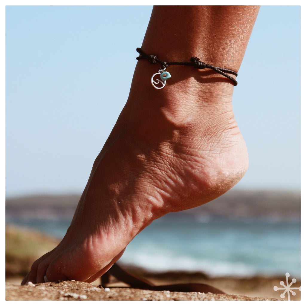 Wave with Turquoise anklet