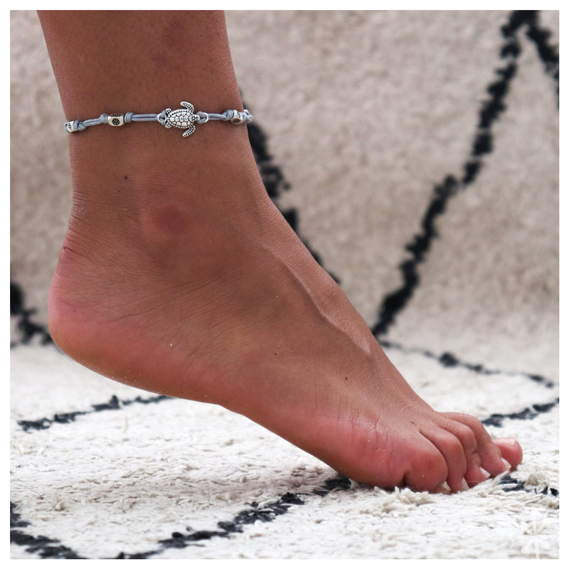 Turtle Gray Anklet