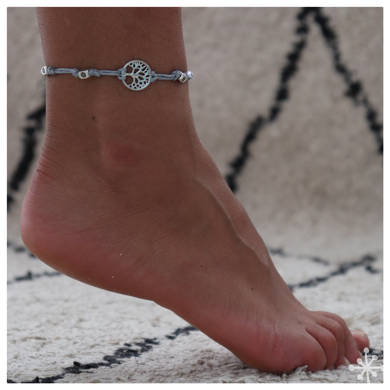 Tree of life Gray Anklet
