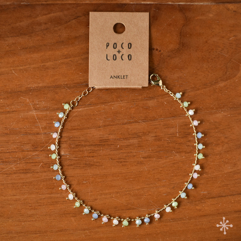 Chain Anklet Gold - Multicolour