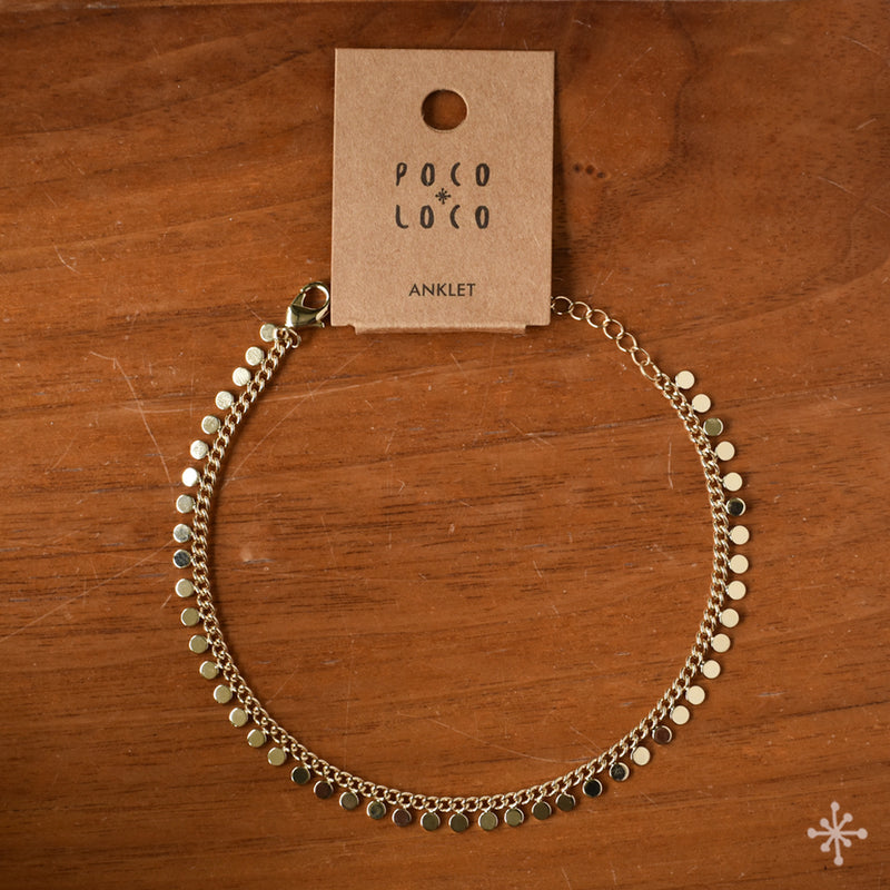 Chain Anklet Gold - Spheres