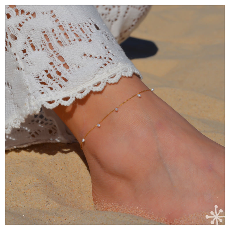 Pearls anklet