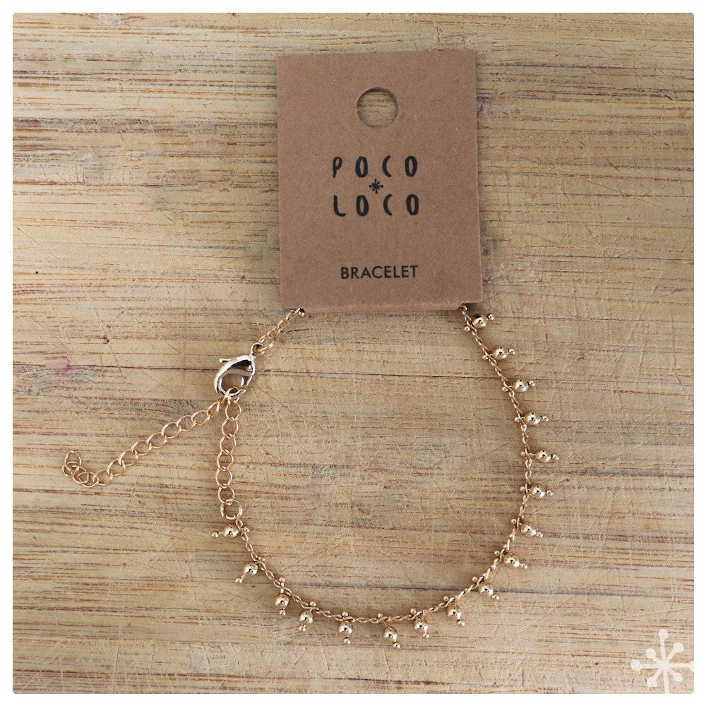 Chain Bracelet Gold Plated plain