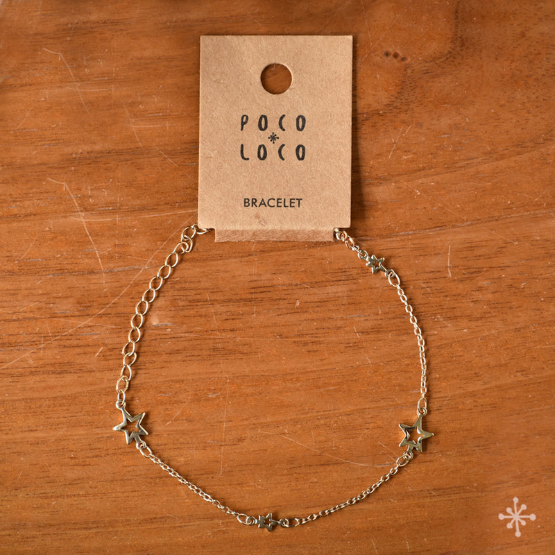 Chain Bracelets Gold plated with stars