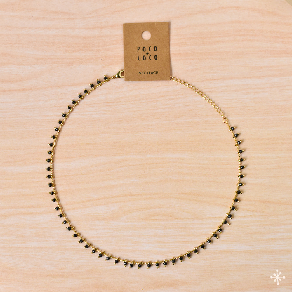 Chain Necklace Gold Black