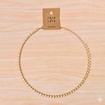 Chain Necklace Gold - Peach