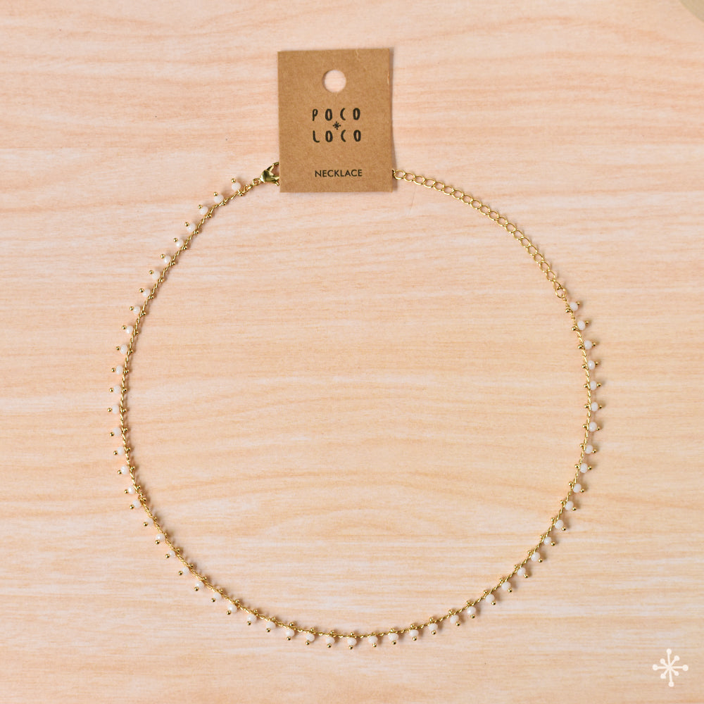 Chain Necklace White