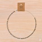 Chain Necklace Silver Black