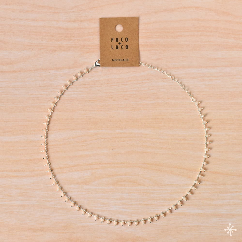 Chain Necklace Silver Peach